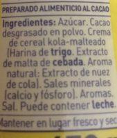 ColaCao - Ingredientes