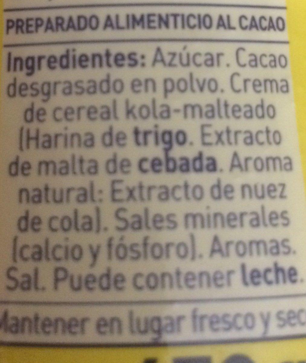 ColaCao - Ingrediënten - es
