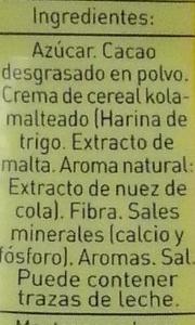 Colacao - Ingredients - es