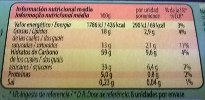 Mini Phoskitos - Información nutricional