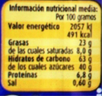 CREMA CACAO NOCISTICKS NOCILLA - Voedingswaarden - fr