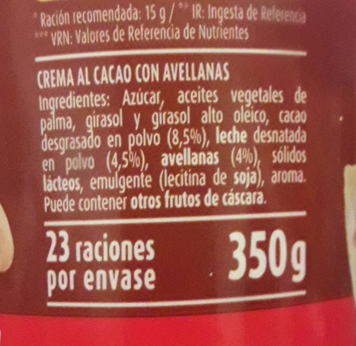 Nocilla - Ingredients