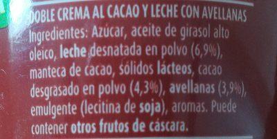 Chocoleche - Ingredienti - fr