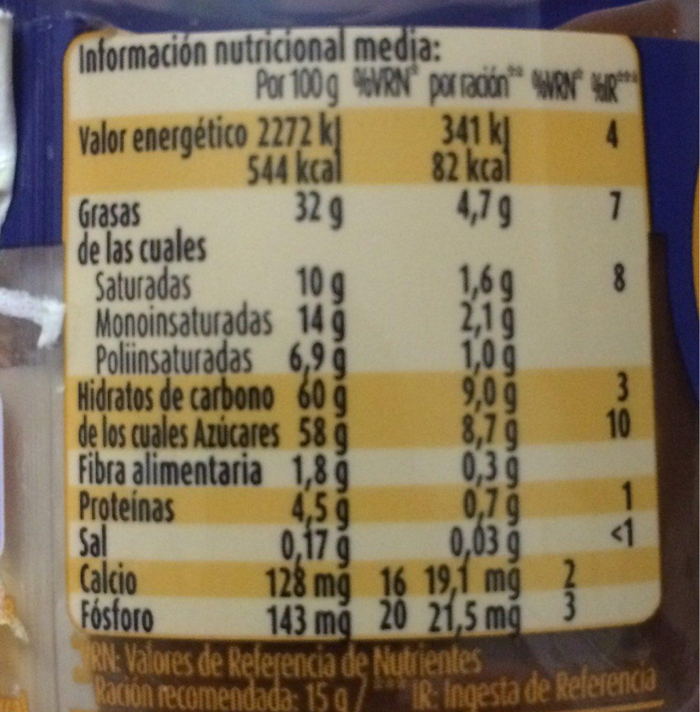 Nocilla - Información nutricional - es