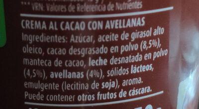 Nocilla original - Ingredienti - es