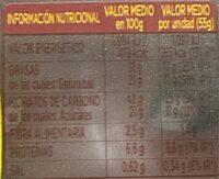Donuts Bombón 110g. (2x55g) - Informació nutricional - fr