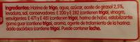 Pan de Molde sin Corteza Blanco Familiar - Ingredientes