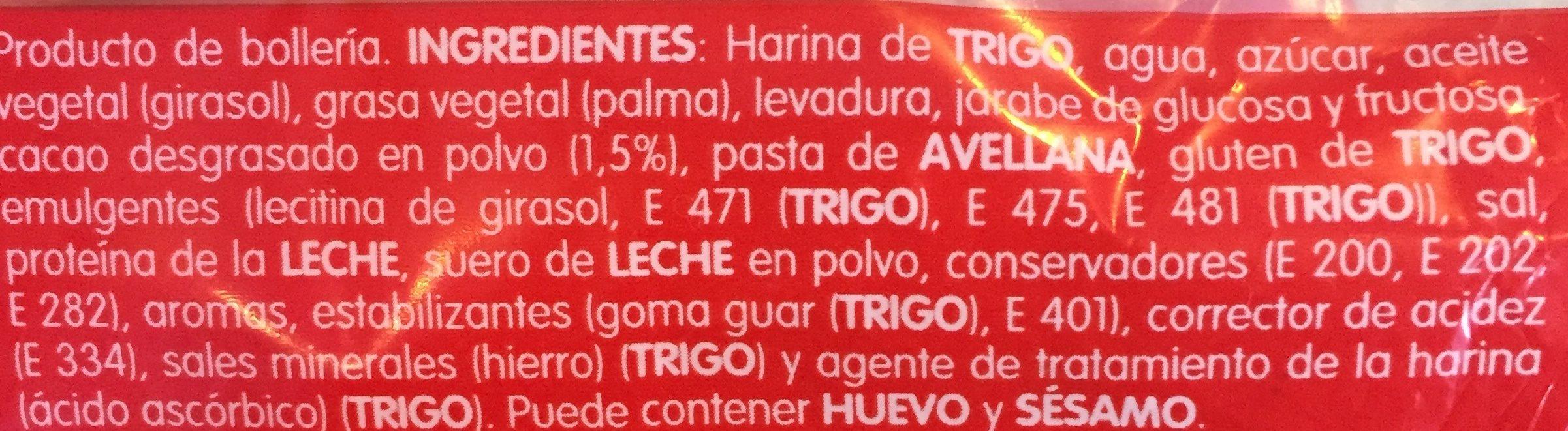 Bollycao - Ingrédients - es