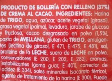 Bollycao - Ingredients - es