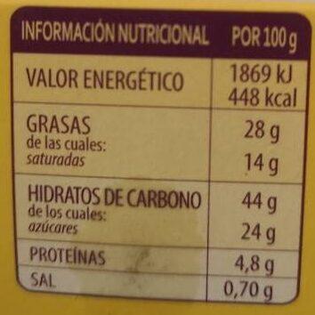 Donuts - Informació nutricional - es