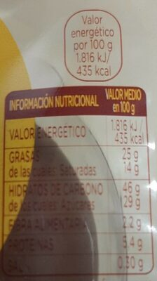 Donuts fondant - Informació nutricional - es