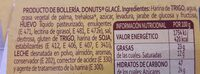 Donuts x4 - Ingredientes - es