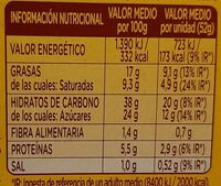 Donuts x4 - Información nutricional - es