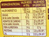 Donuts Glacé - Informació nutricional - fr