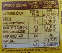 Donuts Chocolate - Informació nutricional - es