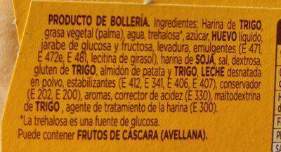 Donuts pocket - Informació nutricional - es