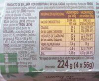Panettone edición limitada - Informació nutricional - es