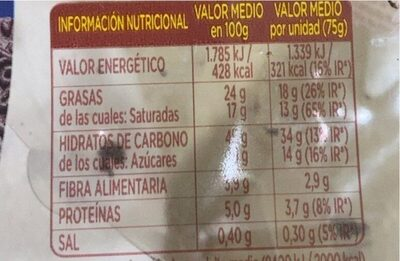 Donuts cookies & cream - Informació nutricional - es