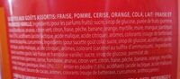 Tubo 150 Sucettes Acidule Chupa Chups - Informations nutritionnelles - fr