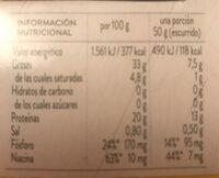 Atún claro aceite de oliva virgen extra - Nutrition facts