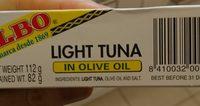 Atún claro en aceite de oliva lata 82 g - Ingrédients