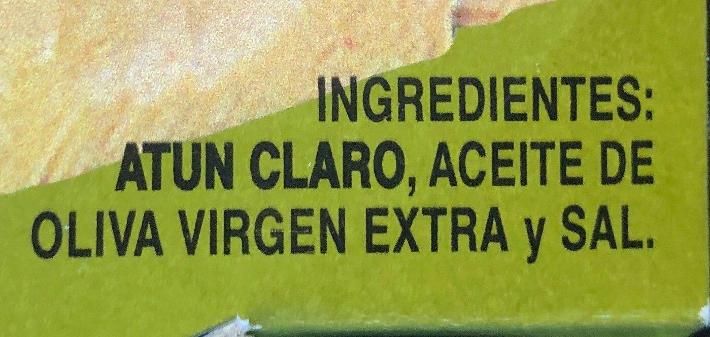 Atún Claro en Aceite De Oliva Virgen Extra - Ingrediënten