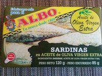 Sardines Albo Oli Ol. verge - Producto