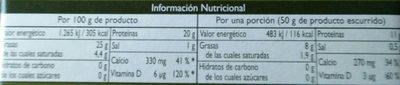 Sardines Albo Oli Ol. verge - Información nutricional