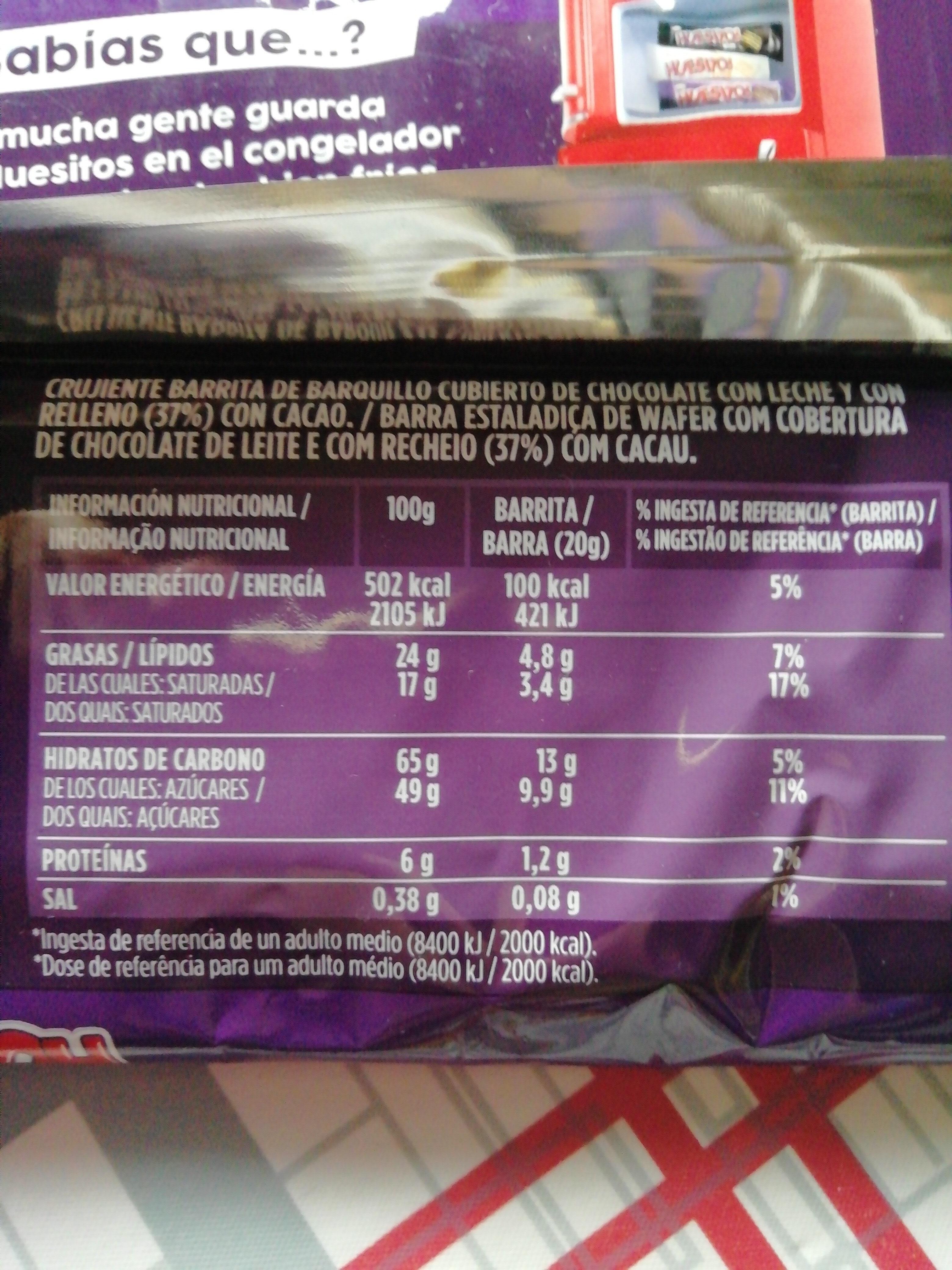 Huesitos Original - Voedingswaarden - es
