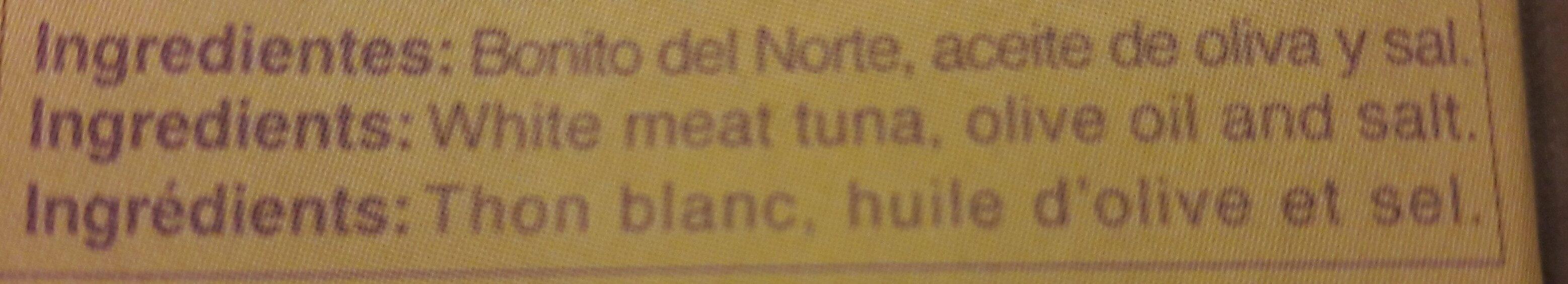 Bonito del norte - Ingredientes