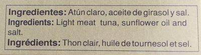 Atun Claro - Ingredients