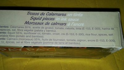 Calamars - Ingredients