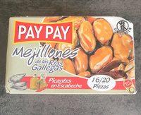 Mejillones Pay-pay Escabeche Picante (8-12 Pzas) - Product