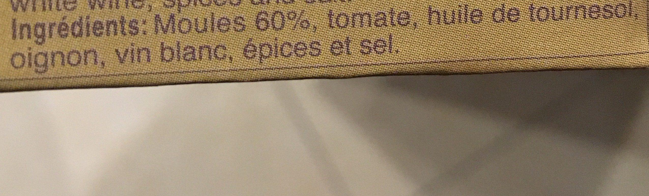 Mejillones - Ingrédients - fr