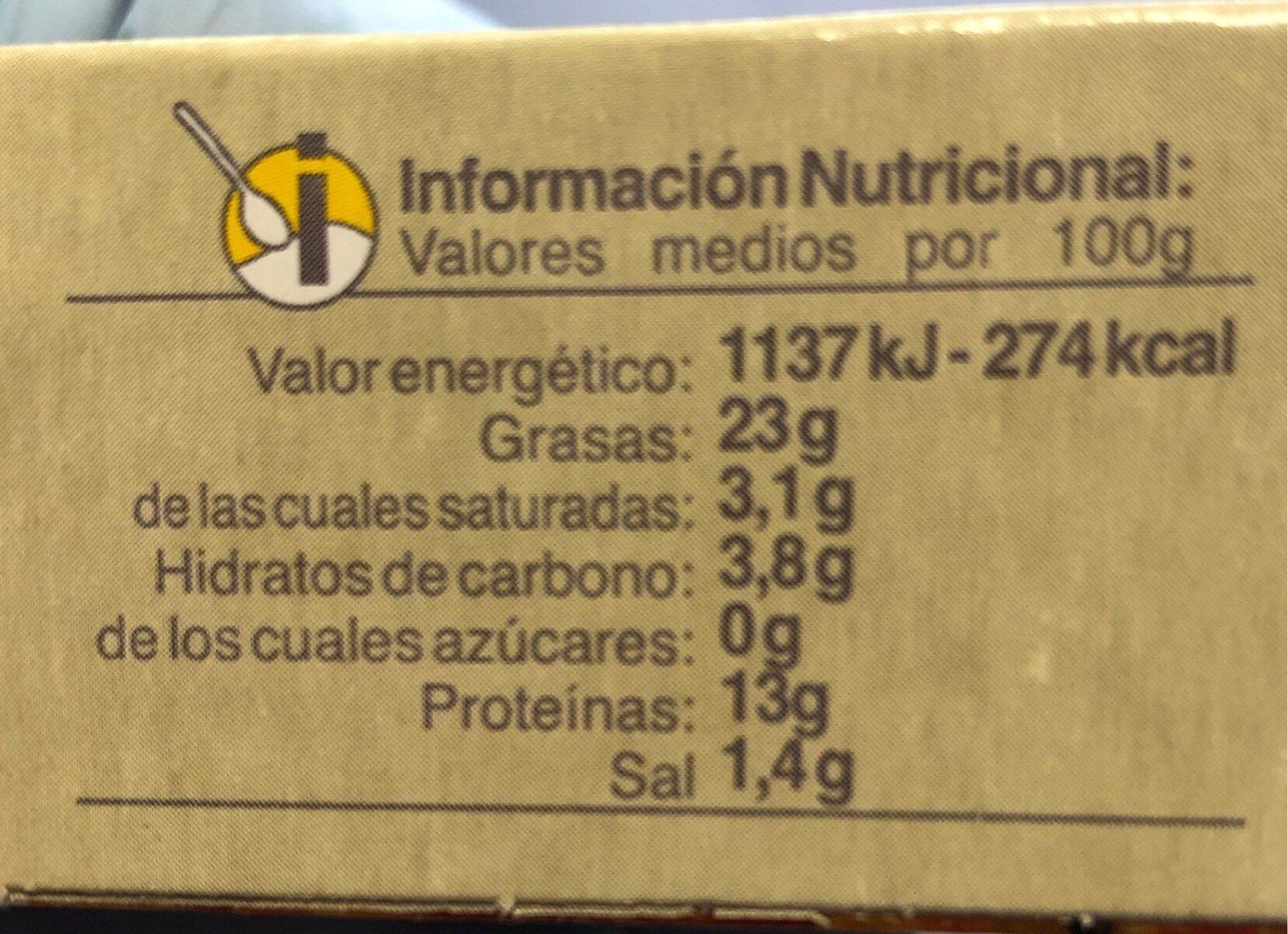 Mejillones - Nutrition facts - es