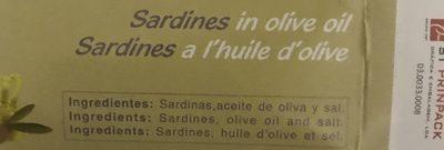 Sardinas De Las Rias Gallegas - Ingredients