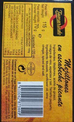 Mejillones en escabeche picante - 2