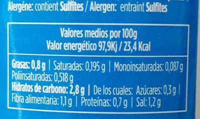 Toreras Guindilla - Información nutricional - fr
