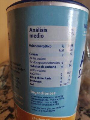 Almiron Descanso Infusión Instantánea 200G - Informations nutritionnelles - es
