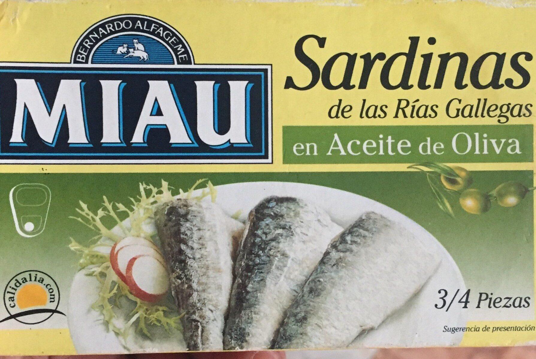 Sardinas - Producto