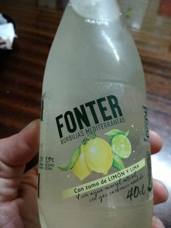 Agua mineral con gas y limón - Product - es