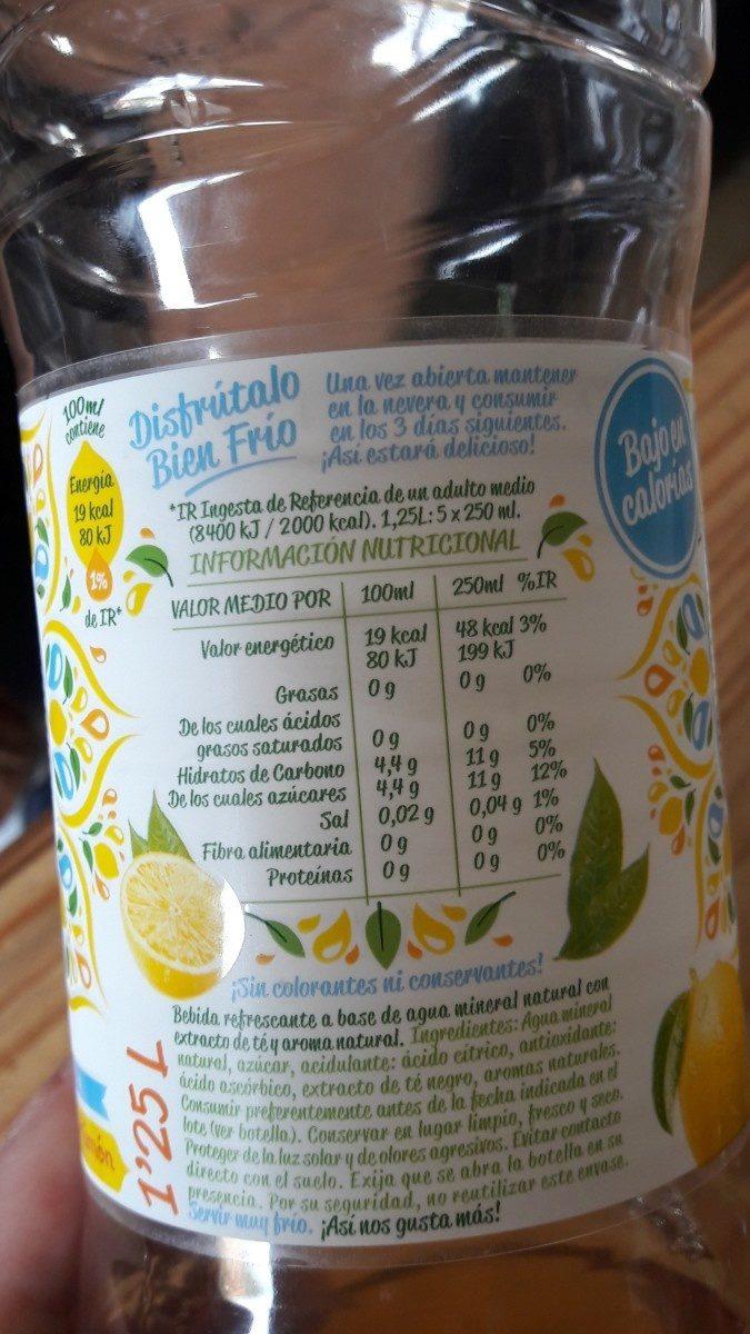Font Vella Levité Agua Con Extractos De Té Sabor Limón - Ingredients - fr