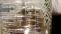 Font vella - Información nutricional