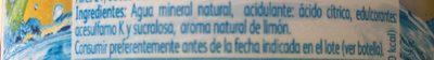 Agua mineral sabor limón+lima azúcares sin calorías - Ingredients - fr