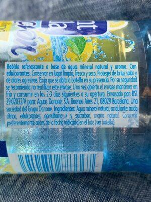 Font Vella sensación sabor limón - Ingredients - es