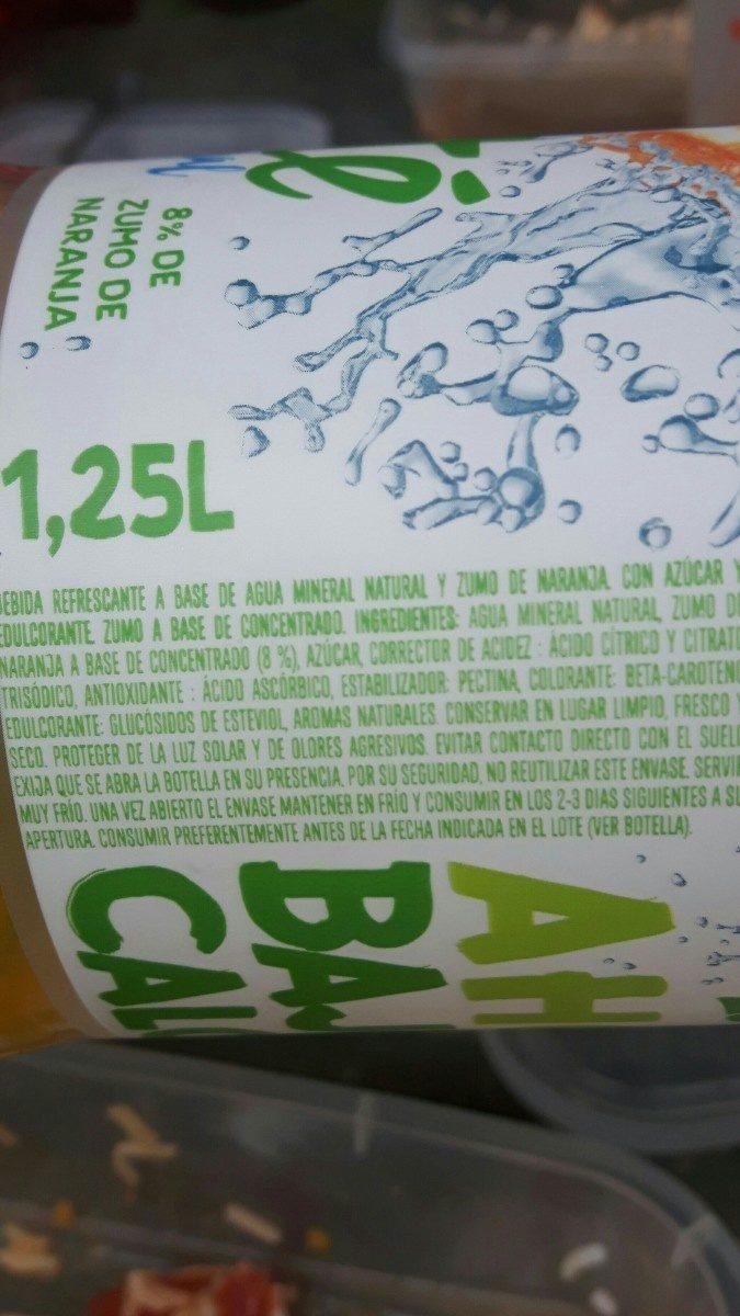 Font Vella Levité Agua Con Zumo De Naranja - Ingredients - fr