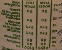 Font Vella Levité Agua Con Zumo De Naranja - Nutrition facts - fr