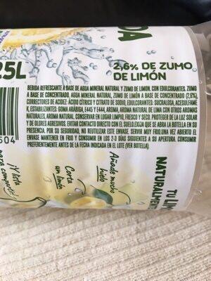 La Limonada de Font Vella - Ingredients - es