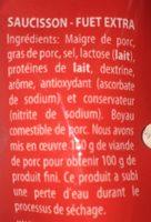 Saucisson Sec - Ingrediënten