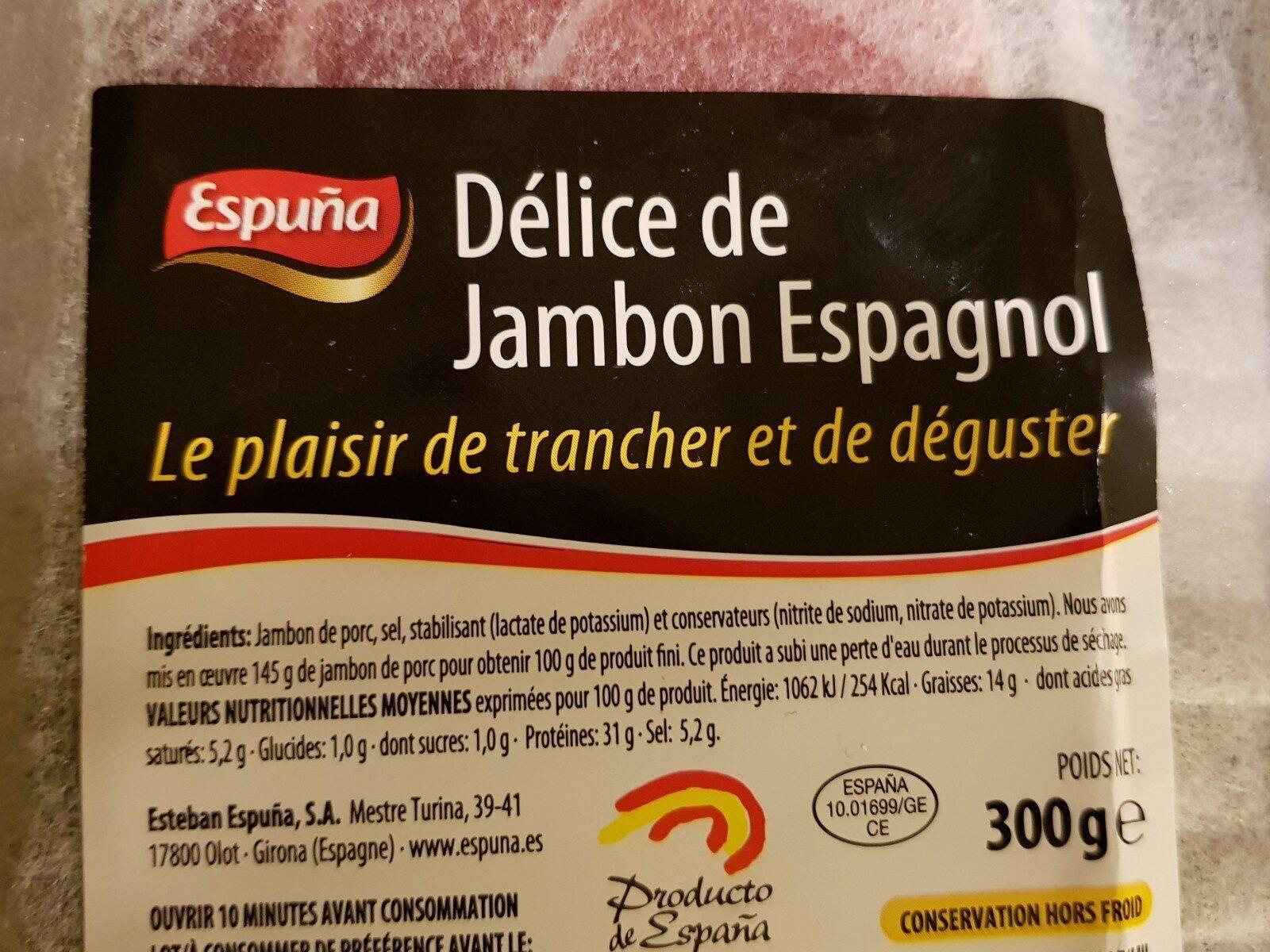 Délice de jambon espagnol ( à trancher) - Ingrediënten